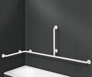 Barra de apoyo bañera en ángulo horizontal nylon